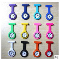 Wholesale Silicone Clip Pocket Watches Small and Convenient Colorful Doctor Nurse Watch Quartz Movement Pocket Watches Hot