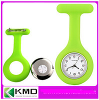 Wholesale Nurse Pocket watch Candy Color Watch Silicone Watch Doctor Watch Promotion Price Dust Dirt Factory retail