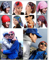 silk head scarves - 2014 Bandanas Headwear Magic Seamless Multi Functional Kerchief Outdoor Head scarf Scarves Face Mesh Bandanas LOTH411
