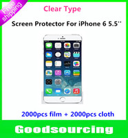 Wholesale Clear Screen Protector Cover Shield Guard Film For iPhone inch iPhone Plus Without Retail Packing