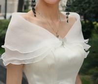 Cheap 2014 Cheap Fashionable White Off the Shoulder Sexy Three Layers Bridal Wraps Bolero Women Jacket Wedding Accessories L08