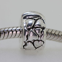 sterling silver beads - Sterling Silver Bead Clip European Charm Fit Bracelet Snake Chain