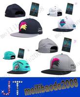 Cheap Pink Dolphin Mascot Snapback hats fans version cap baskeball snapback cap green and black diamon hat free shipping MYY2758A