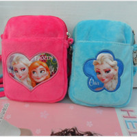 Wholesale 10pcs Frozen Children s Day Gift Sholder Bags Princess Anna Elsa Plush Kids Money Backpacks Childs Girls Women Phone Bags Big Girl H1337