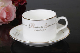 Wholesale European coffee cup suit bone porcelain coffee cup three times creative ceramic coffee cups and saucers