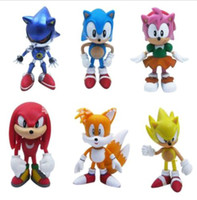 Wholesale POP The Hedgehog Super Sonic Characters PVC Figure Loose Set DH04