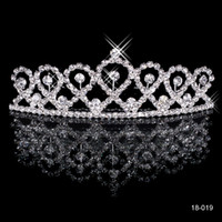 Wholesale Popular New Arrival Bridal Tiara Crown In Stock Wedding Prom Cocktail Bride s Headband Wedding Accessories Cheap Ready to Ship