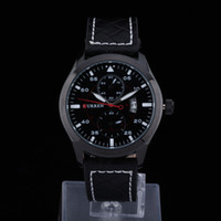 Cheap The new CURREN Brand Men Wristwatches Genuine Leather Strap Clocks Japan Movement Quartz Watches Men women Dress hours 4216