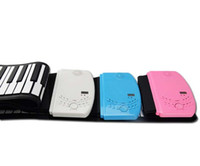 Wholesale 61 Keys thickened Flexible Roll Up Soft Electronic Keyboard Piano Musical Instruments