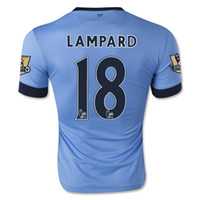 Wholesale WHOLESAE Man City LAMPARD Jersey Home Blue Manchester LAMPARD Soccer Jerseys Kits Top AAA Qualily Player Version