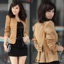 Wholesale Details about New Women Slim Fit Business Double breasted Puff Sleeve Suit Blazer Jacket Coat