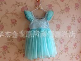 2014 Brand New Frozen Dresses Girl Dress Children Clothes Kids Clothing Sequin Dress Lace Dresses Princess Dress
