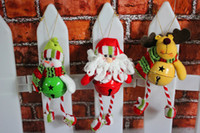 Wholesale Christmas Small Bells Craft Wedding Charms Mixed Color Sale Santa Claus Snowman Deer Jingle Bell Charms Xmas Decorations