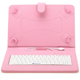 Soportar pulgadas en venta-Envío iRULU caso del soporte del cuero del teclado de 10 pulgadas libre para 10 pulgadas de 10,1 pulgadas PC Tablet PC de la tableta 3G phablet