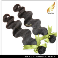 cuticle remy hair - Malaysian Body Wave Hair Extension Remy Human Hair Full Cuticle Natural Black Grade A or or3pcs Inch