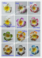 artificial frangipani - cm DIY Hair Accessory Artificial EVA Foam Frangipani Plumeria Flower Head