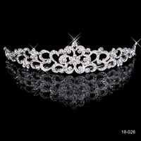 Cheap New Fashion Tiaras Bridal Accessories Hair Jewelry with Crystal Rhinestone White Gold plated Cocktail Woman's Fashion Crowns 18026