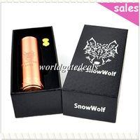 Wholesale Newest Mech Mod Vape Smoking Pipe SS Copper Fat Snow Wolf Mod A Mod SnowWolf Mod Thread Fit Plume Veil Mutation X Kayfun Lite DHL