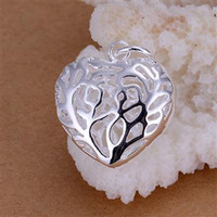 beautiful purpose - Vogue Beautiful Hollow Cute Lovely Heart Pendents Hot Sale brand new Silver Multi Purpose