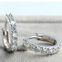 Wholesale Earrings For Women S925 Sterling Silver with Austria Crystal SWA Elements Layer Platinum Plated OE32