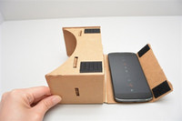 Wholesale Newest Christmas Presents Gifts DIY Google Cardboard Virtual Reality VR D Glasses Unofficial with NFC for iPhone Samsung HTC Mobile Phone