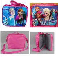 Wholesale New Frozen Princess Elsa Anna School Shoulder Box Lunch Bag Tote for Kids girls DH04