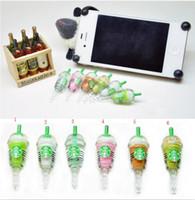 Wholesale Starbucks dustproof plug Ice stars music headphones mouth dustproof plug Star cup phones hardback