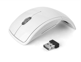 Wholesale Cheapest Ghz USB Computer Wireless Optical Gaming Mouse for Microsoft Laptops Pc with Bluetooth Receiver Foldable Mice
