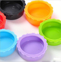 Wholesale New idea silicone bottle cap wine cap Silicone Beer Wine Savers bag mix color