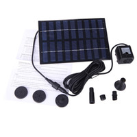 Wholesale 220L H V W Solar Power Brushless Pump For Water Cycle Pond Fountain Rockery Fountain Outdoor Garden H4080