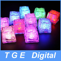Wholesale 360pcs Romantic LED Ice Cubes Fixed Color Light Crystal Cube For Valentine s Day Party Wedding Can Mix Color