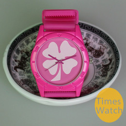 Free Shipping Fashion MULCO woman man girl boy colorful silicone strap 4 Leaf Clover Quartz clover watch wristwatch