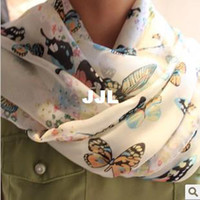 Wholesale 2014 autumnMin order can mix Europe Sweet Chiffon Star Butterfly Pashmina Scarf Fashion Style For Christmas Gift for Wife SF016