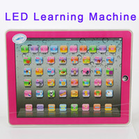 Wholesale Xmas Gift ypad Y pad Table Learning Machine English Computer for Kids Children Educational Toys Music Led Learning Toys Factory Price