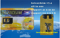 Wholesale 20pcs all in one heicard easy to unlock SPRINT VERSION ATT iphone4s s support iso7 iso run on g internet