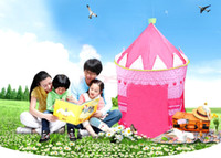 Cheap Indoor & Outdoor Children Game House Baby Beach Tents Princess Prince Palace Kid Castle Indoor Toys Tent Christmas Gifts For Child 7378