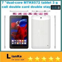 Wholesale 7 Inch MTK6572 Dual Core Phablet With Android OS G GSM Dual Sim Dual Standby Monster Phone GPS Bluetooth WIFI Camera Tablet PC