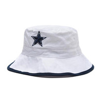 Wholesale White Fisherman Caps Cowboys Bucket Hats Top Quality Football Cap Snapbacks Fashion Sun Hat Outdoor Beach Caps Snapback New Arrival Team Hat