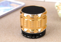 Wholesale 100pcs Mini S28 Wireless Bluetooth Speaker Hand free Mic Stereo Mini Portable Speakers Outdoor Speakers TF Card Call Function Subwoofer