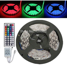 5050 60 LED 12v 5M non-Waterproof RGB Strip Light + 44 Key IR Controller+ RGB Control Box