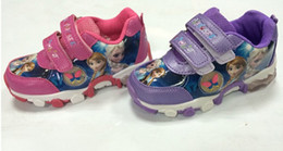 2014 New Kids Frozen Sneaker Shoes for Girls Children Sports Casual Shoes Fashion Frozen elsa anna Waterproof