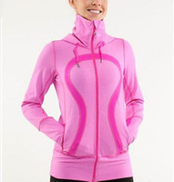 women athletic wear - XXS XS S M L XL hoodies in stride Lady Sport Athletic Jacket yoga wear coat Women s sweater popular pink color clothing clothes