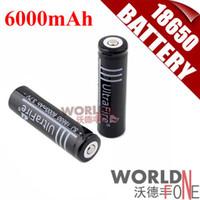 Wholesale x Battery mAh V Li ion Lithium Rechargeable Battery for LED Flashlight UltraFire