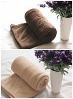 Cheap Wholesale-Hot Sale Promotion Free Shipping Queen Size 170*230 cm 2 Colors for Choose Super Thicken bedspread Blanket on the bed or sofa