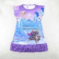 Wholesale Frozen Elsa Girls Sleepwear Child Pyjamas Girl Dress Children Clothes Kids Clothing Girls Pajamas Childrens Sleepwear Fashion Casual Dresses