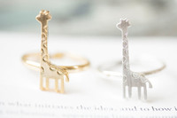 african giraffe - MIN pc New Europe and the United States Fashion Jewelry Deer Ring Giraffe Ring Accessories JZ203