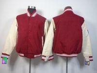 warm up jackets - Blank Red Cotton Winter Jackets Outerwear Hockey Jersey Hoodies Lace Up Winter Outdoor Sportswear Warm Hooded Sweatshirts