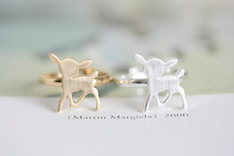 MIN 1pc unique rings adjustable rings animal rings bambi gentle rhinestone ring onta open ring, JZ205