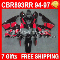 Stock red 7gifts For HONDA CBR900RR 94- 97 CBR893RR 94 95 96 ...