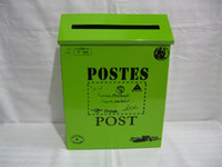 metal mailbox - Rustic mailbox post box letter box mail box mailboxes wall mounted mailbox metal outdoor vintage postbox